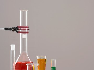 Chemists use lab equipment to study all forms of matter.