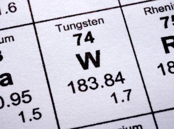 Tungsten has an atomic number of 74.