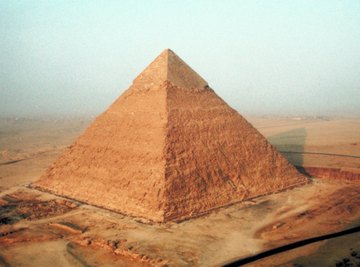 All pyramids have sides that are tiangular, but some have triangular or square-shaped bases.