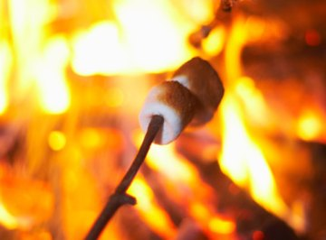 With some practice, a warm, toasty campfire can be started with flint and steel.