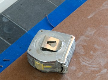 A tape measure is commonly used to measure short distances.