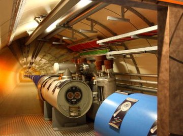 The Large Hadron Collider (LHC) operated by the European Organization for Nuclear Research (CERN) is helping scientists study subatomic particles.