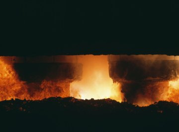 Smelting involves the use of very high temperatures.