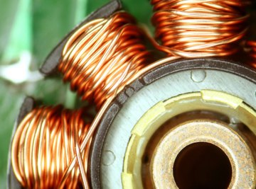 Copper wire conducts electricity.
