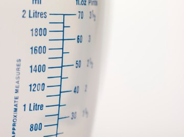 Most measuring cups have metric and U.S. measurements on the side.