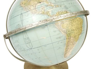 Continents and Countries can be seen when viewing a globe.