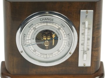 Barometers are used to measure the air pressure.