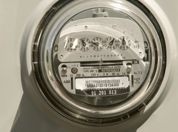 Utility companies charge per kilowatt hour as measured by a meter reading.