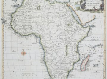 The African plate contains the continent of Africa as well as large parts of ocean floor.