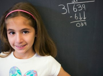 Students need practice and repetition to master the long division process.