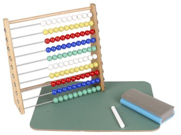 An abacus can take a variety of shapes and colors, but the function remains the same.