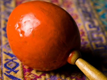 Maracas are one of many instruments that students can easily make at home.