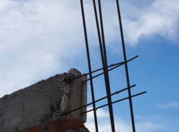 Rebar is used in construction projects to reinforce concrete.