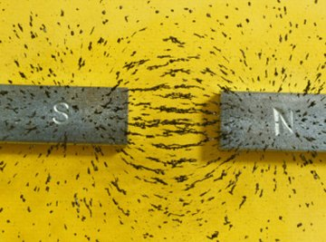 Bar magnets create a magnetic field.
