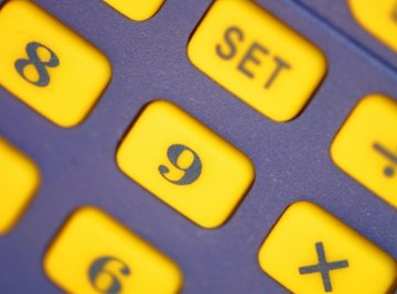 A calculator makes it easy to find an average.