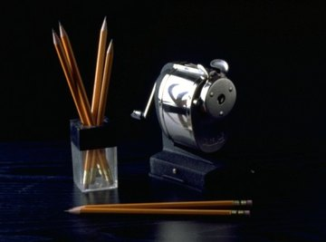 A pencil sharpener uses simple machines together as a compound machine.