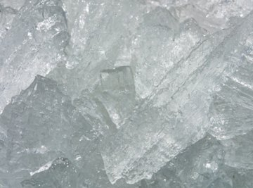 Ice forms at different temperatures depending on the type of water.
