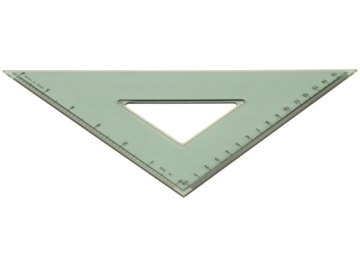 An isosceles triangle has two sides of equal length.