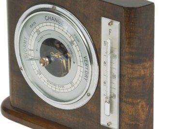 Barometers measure the pressure of the atmosphere.
