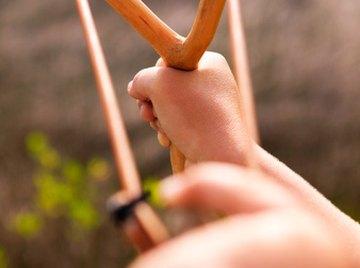 Trebuchets originated from basic slingshots.