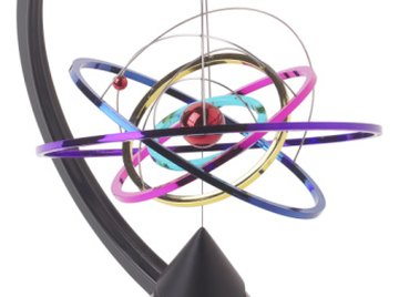A silicone atom has three electron rings surrounding the nucleus.
