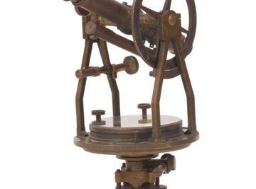 Modern computerized theodolites use the same principles as this antique brass example.
