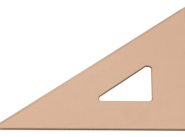Right triangles have one 90 degree (right) angle and two 45 degree angles.