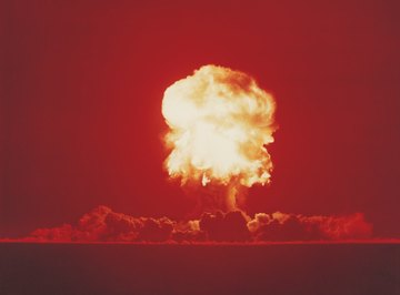 Properties of radioactive materials led to the creation of the nuclear bomb.