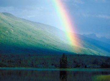The rainbow symbolizes diversity in unity.