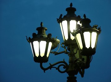 Street lights allow people see while walking outside.