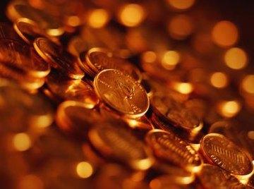 Pile of U.S. pennies.
