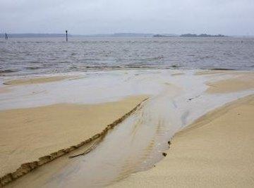 Beach erosion.