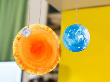 You can craft your model of the sun, Earth and moon in less than an hour.