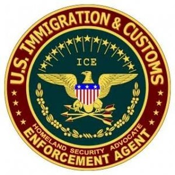 U.S. Immigration and Customs seal.