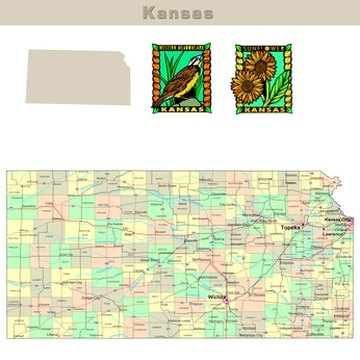 Kansas requires a 60-day residency prior to filing.