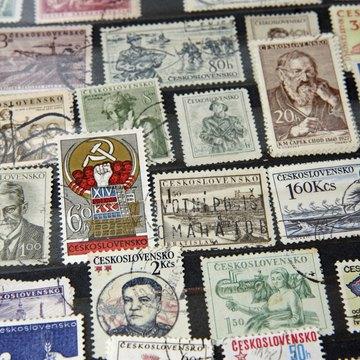Vintage Czechoslovakia stamps