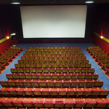 Empty movie theatre