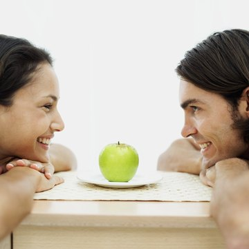 Eye contact is a powerful way to signal attraction.