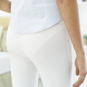 Visible panties under white pants are a definite fashion faux-pas.