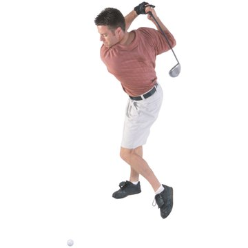 An over-the-top swing goes across the ball at impact, creating a bad outside-to-in swing path.