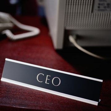 Chief Executive Officer Nameplate