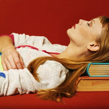 Avoid studying in a place where you'll be tempted to fall asleep.