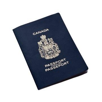Canadian passport.