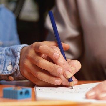 Kindergarten students will work on handwriting often.