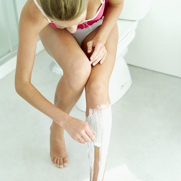 Shaving upward may cut too close for your thighs and bikini line.