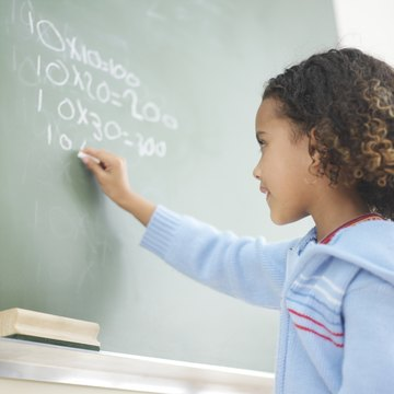Children learn multiplication and other basic functions in the primary grades.