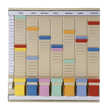 Colored Timecards in a Holder