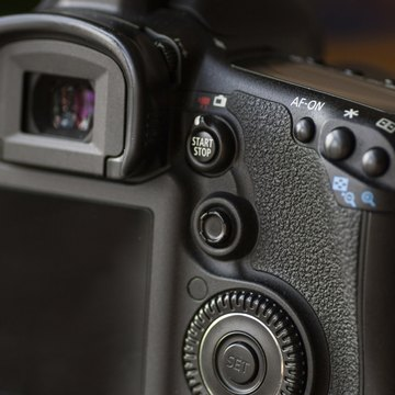 Detail shot of a DSLR camera
