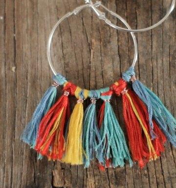 DIY Fringe Hoop Earrings