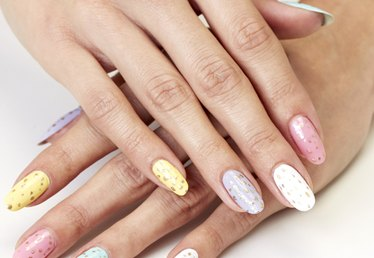 Easter Nail Art: A Festive Speckled-Egg Manicure